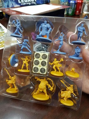 Guildball Kick Off miniatures in packaging